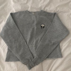 GREAT COND. John Galt alien cropped sweatshirt